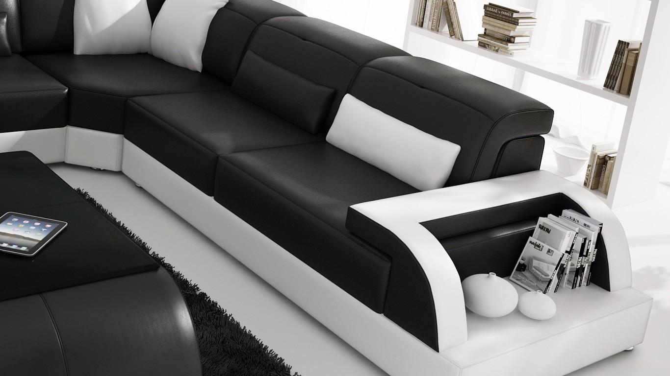 Item specifics Modern Large LEATHER SOFA Corner