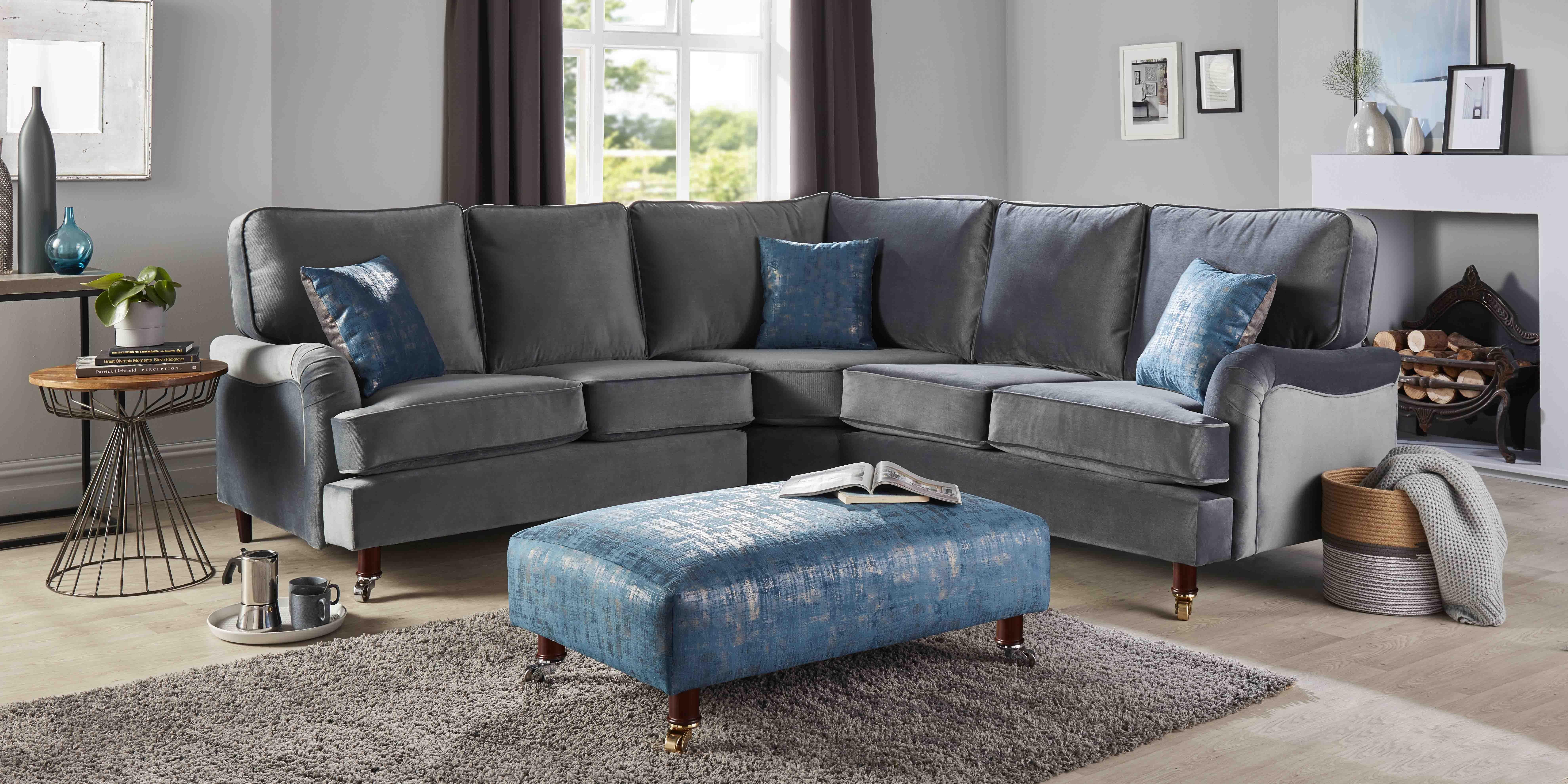 Lux Corner Velvet  Sofa