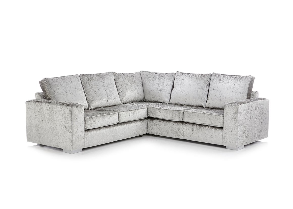 Rix Crushed Velvet Corner Sofa