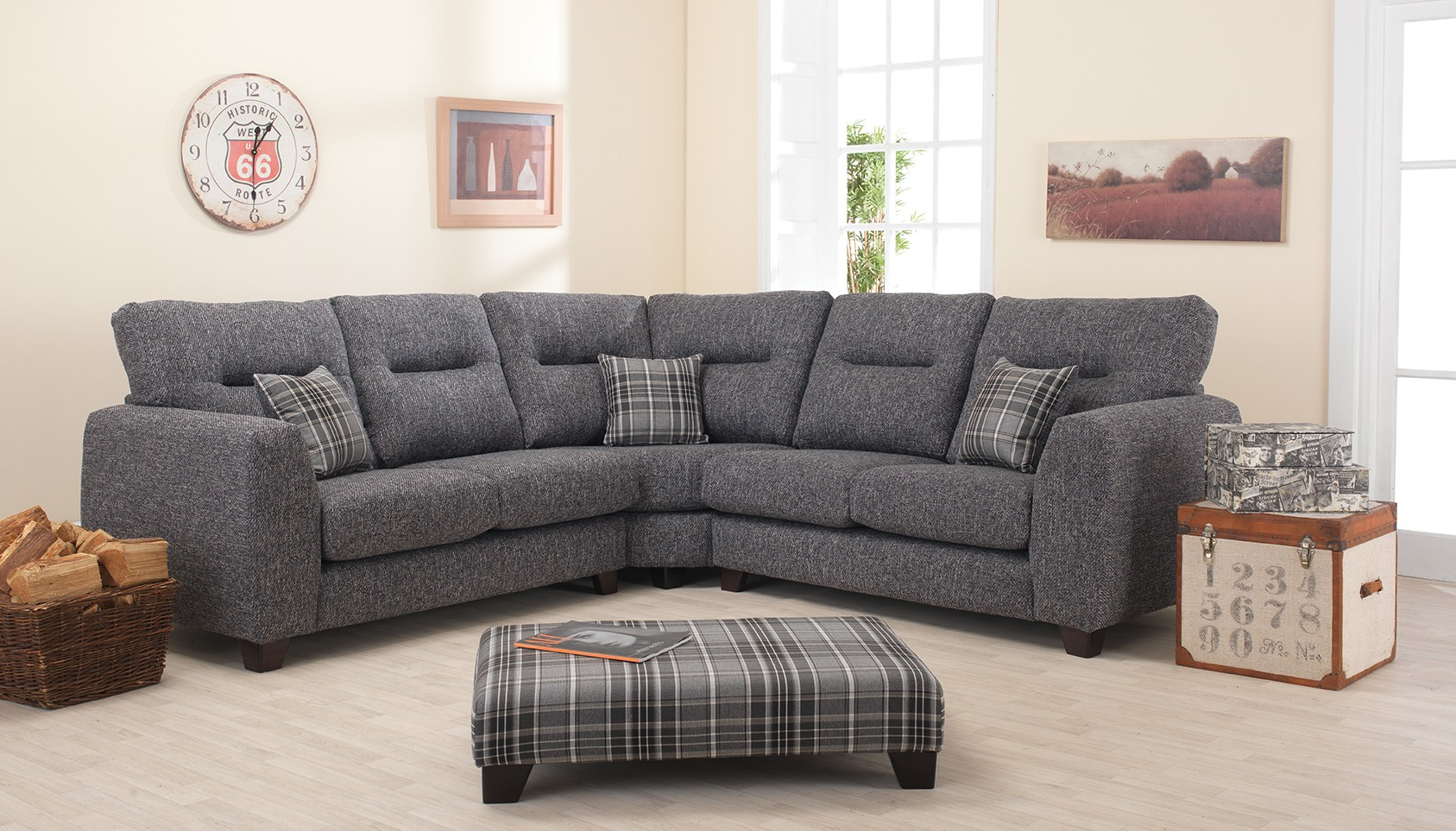 Liz Fabric Corner Sofa
