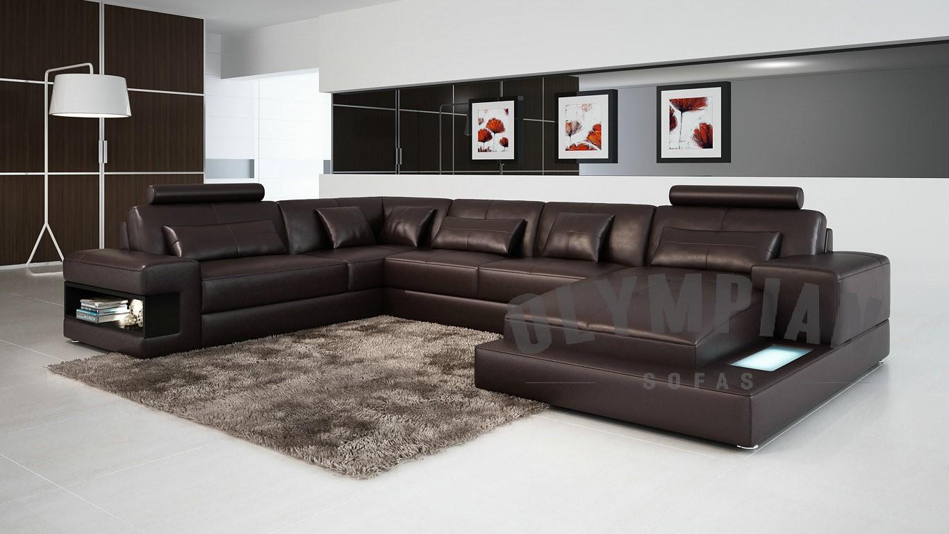 Royal Chocolate Brown Leather Sofa