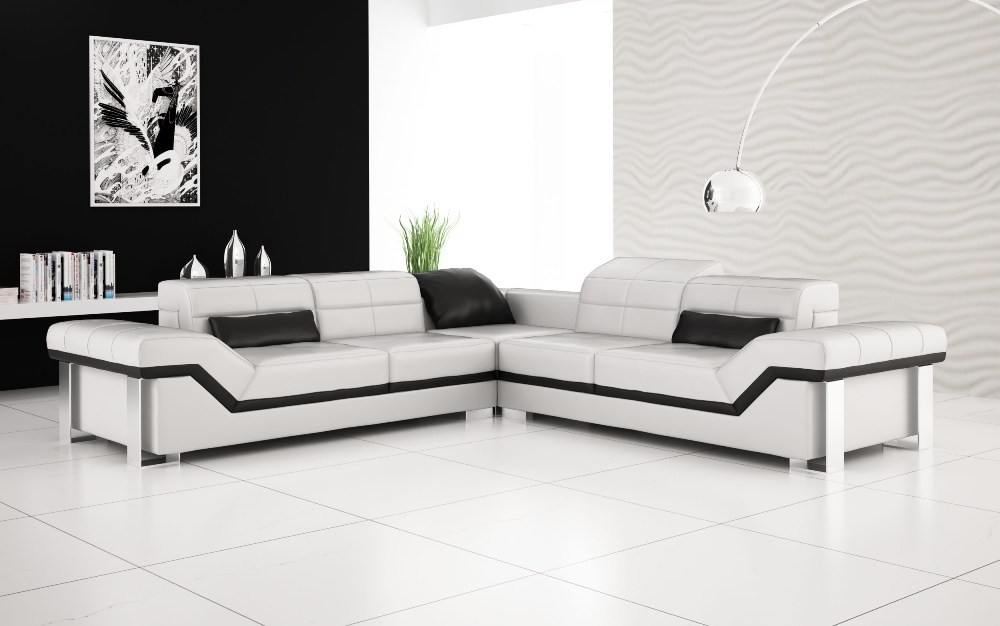 Olympian Sofas Rimini White Leather Sofa