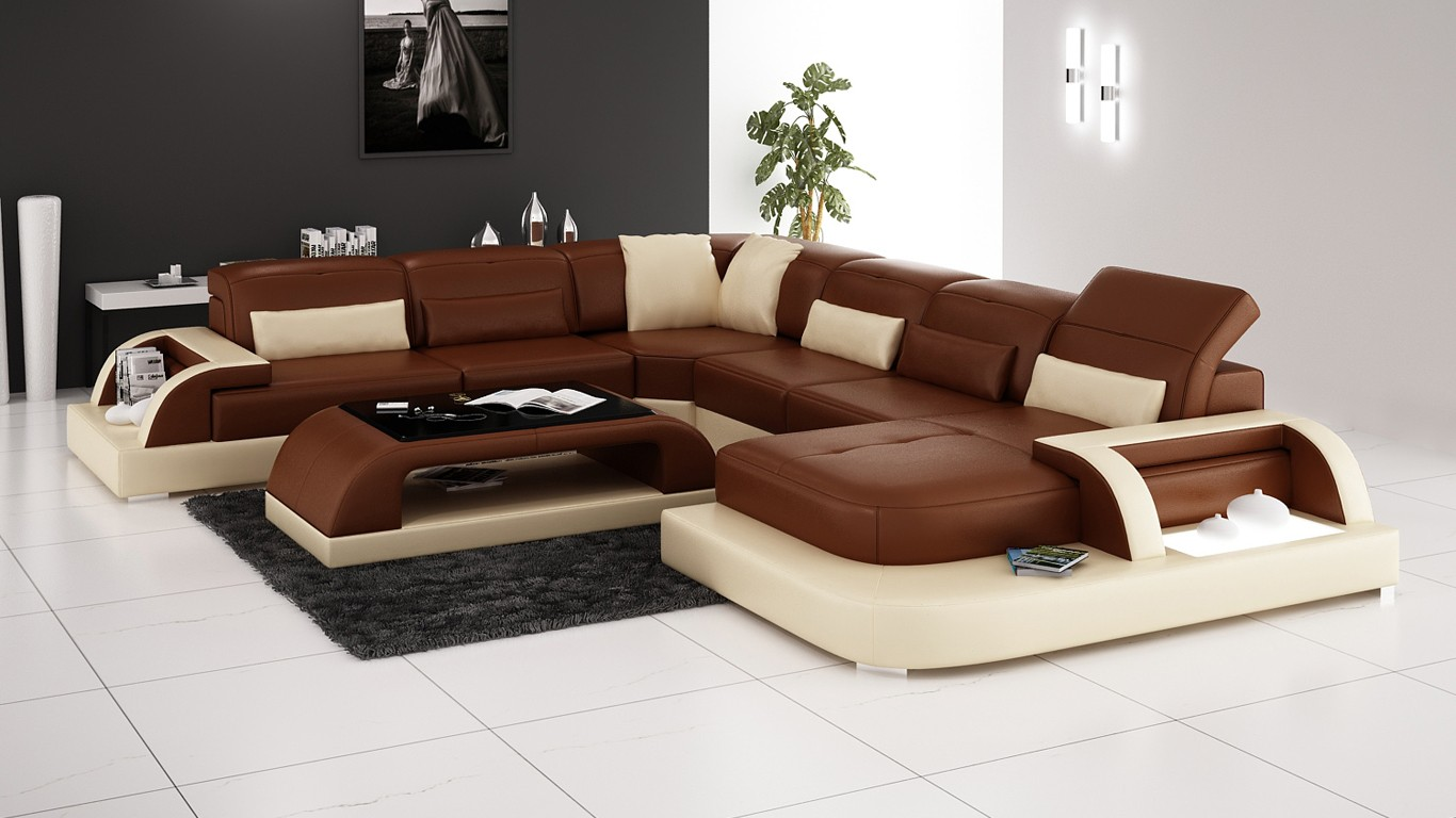 Olympian Sofas Valentino Brown Leather Sofa