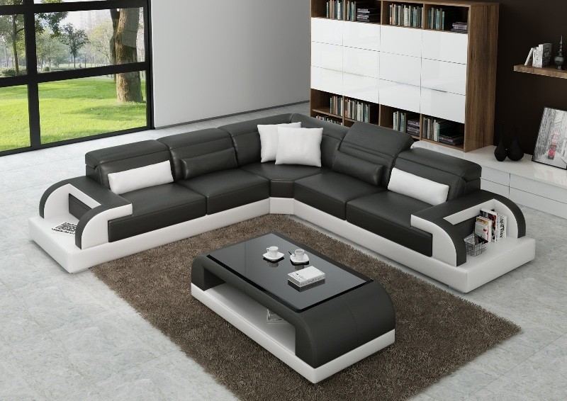 Valentino Grey & White Sofa Instock