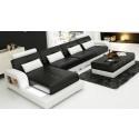 Pesaro Chaise Black Corner Sofa