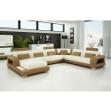 Pesaro Light Brown Leather Sofa