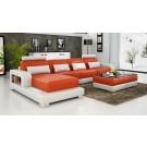 Pesaro Chaise Orange Sofa INSTOCK