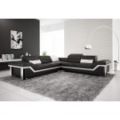 Rimini Black Leather Sofa **INSTOCK**