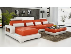 Pesaro Chaise Orange Sofa INSTOCK