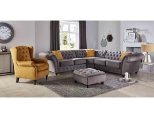 Chesterfield Corner Velvet  Sofa