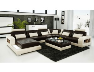 Pesaro Chocolate Leather Sofa