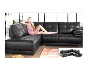 Denise Corner Sofa Black INSTOCK