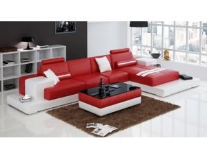 Nurburg Red Corner Sofa