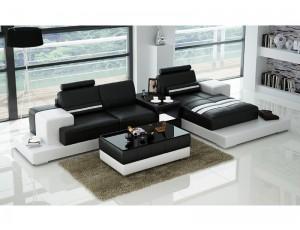 Nurburg Black Corner Sofa