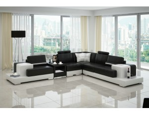 Nurburg Black Leather Sofa INSTOCK