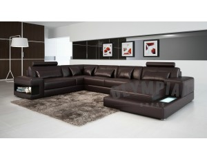 Royal Chocolate Brown Leather Sofa