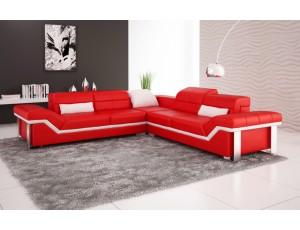 Rimini Red Corner Sofa Instock