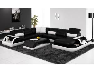 Valentino Black Leather Sofa Instock