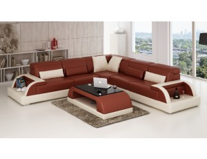 Valentino Brown Corner Sofa
